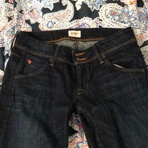 Hudson Jeans• low rise dark wash